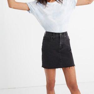 Madewell stretch denim mini skirt in ashtray
